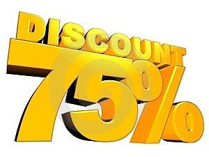 3D 75% Discount Sign Stock Photos - Image: 16722383