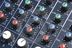 Mixing Board Knobs Royalty Free Stock Photo - Image: 16724105