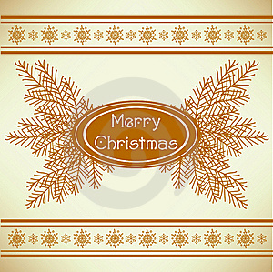 Marry Christmas Vintage Greeting Card Stock Photo - Image: 16725310