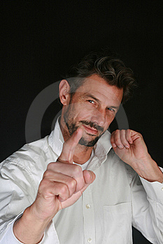 Man Finger Royalty Free Stock Images - Image: 16726719