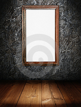 Old Wood Frame Of White Sign Board Royalty Free Stock Image - Image: 16733626
