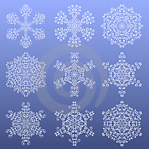 Snowflakes Royalty Free Stock Photography - Image: 16734077