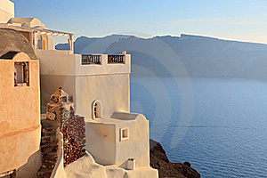 Traditional Greek House At Sunset Royalty Free Stock Photo - Image: 16734995