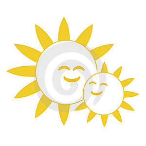 Happy Smiling Suns Stock Image - Image: 16735011