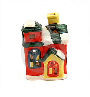 Ceramic Candlestick Multi-colored Small House Royalty Free Stock Photos - Image: 16735058