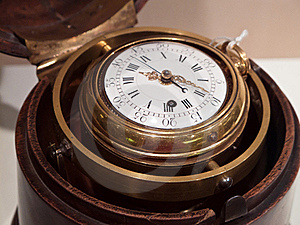 Antique Chronograph In Wooden Case Royalty Free Stock Image - Image: 16735206