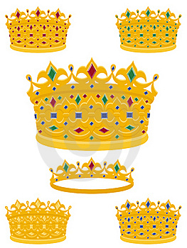 Golden Crowns Stock Photo - Image: 16735240