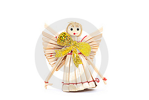 Straw Angel Royalty Free Stock Images - Image: 16737909