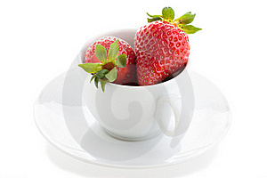 Cup And Strawberry Royalty Free Stock Image - Image: 16738796