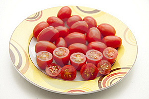 Cherry Tomatoes On Plate Stock Photography - Image: 16740582