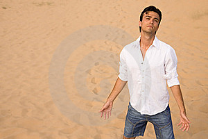 Despair In Desert Royalty Free Stock Photography - Image: 16741587