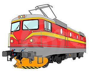 Electric Locomotive Illustration Stock Photos - Image: 16743373