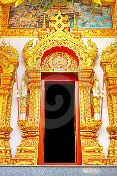 Thai Style Temple Door Stock Photos - Image: 16743583