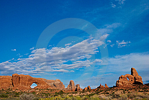 Clouds Over Arches National Park Stock Photos - Image: 16745693