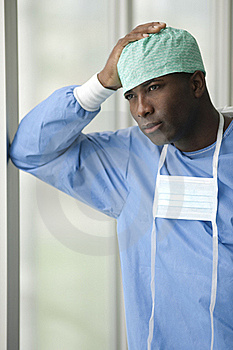 Worried Male Surgeon Stock Images - Image: 16746384