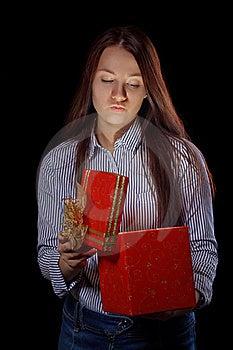 Girl Opening Gift Box Stock Photography - Image: 16747732