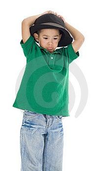 Cute Little Sad Boy Royalty Free Stock Photo - Image: 16747955