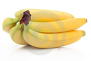 Bunch of ripe banana fruits isolated Stock Photos