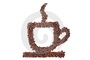 Cup Of Coffee From Coffee Beans Royalty Free Stock Photos - Image: 16750078