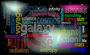 Space Tag Cloud Royalty Free Stock Images - Image: 16750309