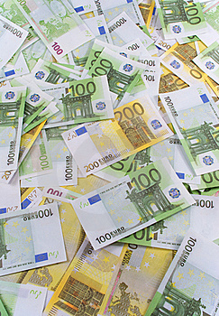 A Lot Of Banknotes Euro Royalty Free Stock Photos - Image: 16751378