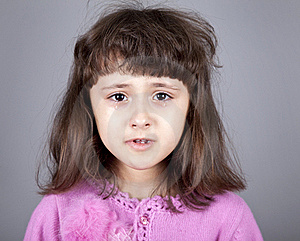 Young Brunet Girl Cry. Stock Image - Image: 16752401