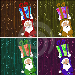 Santa Claus Holding Gift Box Stock Images - Image: 16752724