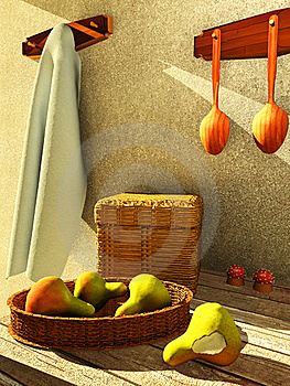 Interior With Fruit Royalty Free Stock Image - Image: 16755126