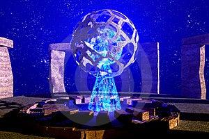 Stonehenge Moon Stock Images - Image: 16755204