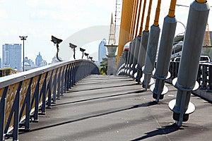 Pathway On Mega Sling Bridge Royalty Free Stock Photos - Image: 16757908