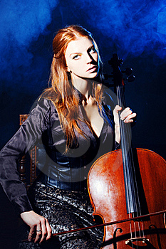 Cello Musician, Mystical Music Royalty Free Stock Image - Image: 16761426