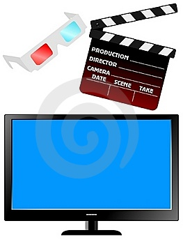 Set Of Movie Objects Royalty Free Stock Image - Image: 16761596