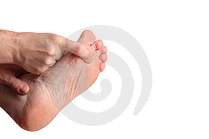 One Finger Feet Massage Stock Photos - Image: 16763683
