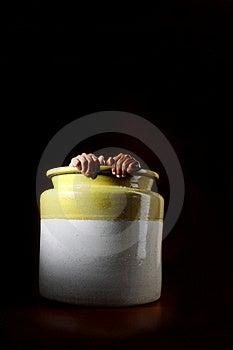 Man Hiding In A Pot Stock Photo - Image: 16765110