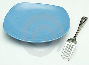 Plate And Fork Royalty Free Stock Photography - Image: 16765777