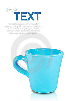 Blue Coffee Cup With Copyspace Isolated Royalty Free Stock Photography - Image: 16771297