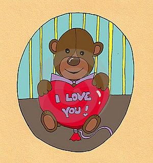 Valentine Teddy Bear Stock Photo - Image: 16776750