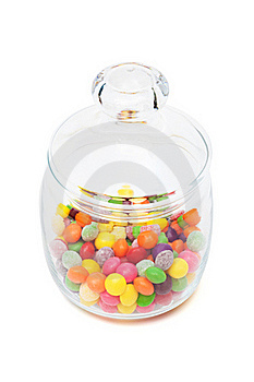Candy In A Glass Jar Stock Photo - Image: 16780420