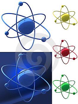 Representation Of An Atomic Structure Stock Photos - Image: 16781503