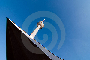 Television Tower Against A Blue Sky V2 Stock Photography - Image: 16782102