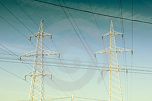 Electricity Pylons And Power Lines Stock Image - Image: 16782581