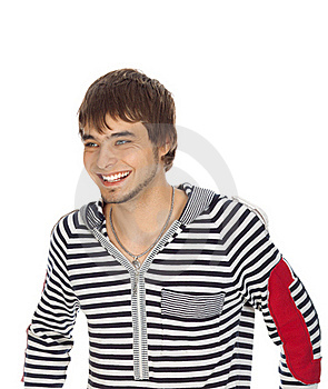Attractive Guy Laughs Royalty Free Stock Photos - Image: 16782828