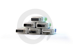 Pyramid Stack Of USB Drive Connectors Royalty Free Stock Photos - Image: 16783058