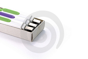 USB Flash Drives In A Matchbox Stock Photos - Image: 16783093