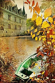 Autumn Castle Stock Image - Image: 16783321