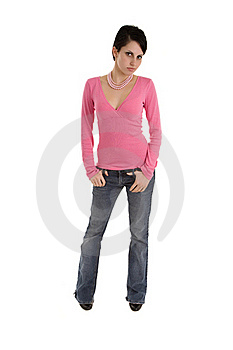 Model In Pink Top Stock Images - Image: 16783954