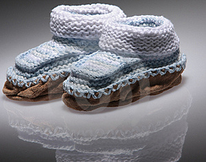 Knitted Baby Booties Royalty Free Stock Photo - Image: 16784095