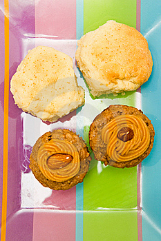 Cupcakes And Biscuits Stock Image - Image: 16784491