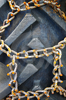 Rusty Chains On Vehicle Close-up Stock Photos - Image: 16784823