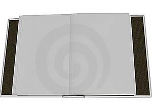 3D Render Open Blank Book Stock Images - Image: 16792954